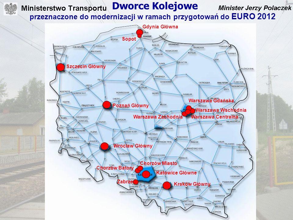 Dworce Kolejowe przeznaczone do modernizacji w ramach przygotowań do EURO 2012. Gdynia Główna. Sopot.