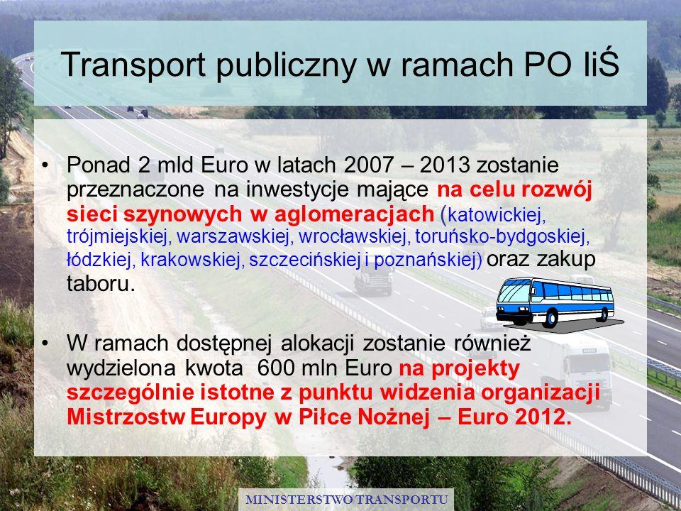 Transport publiczny w ramach PO IiŚ
