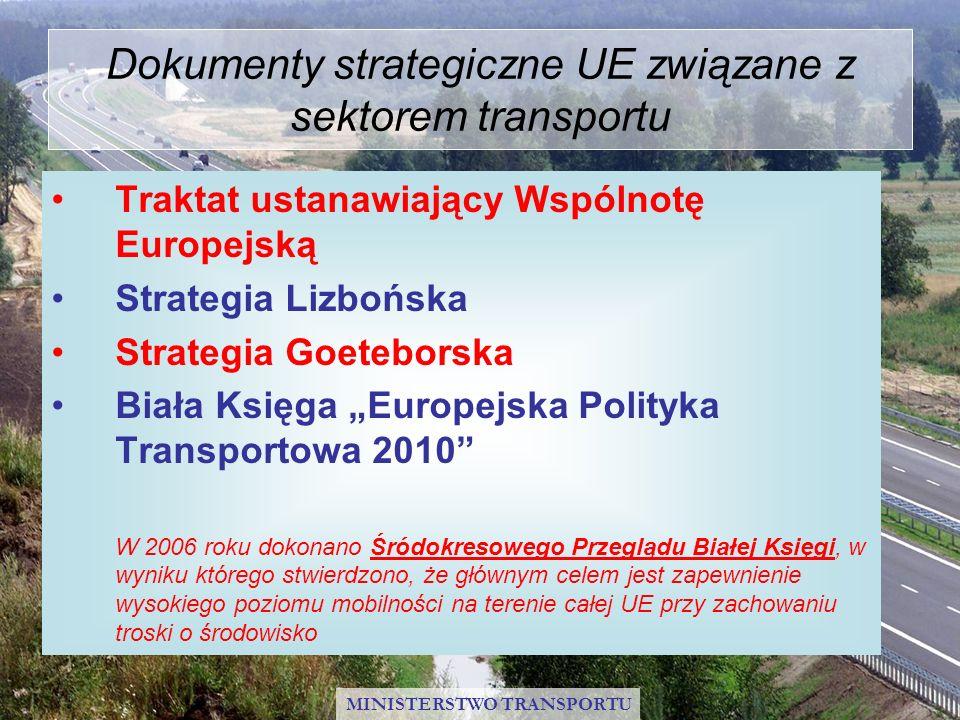 Dokumenty strategiczne UE związane z sektorem transportu