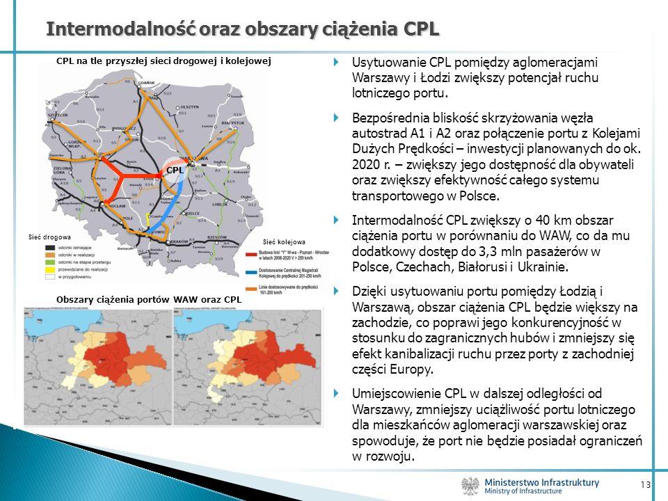 CPL na tle przyszłej sieci drogowej i kolejowej