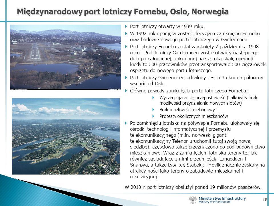 Międzynarodowy port lotniczy Fornebu, Oslo, Norwegia