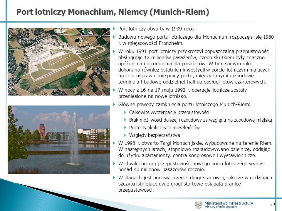 Port lotniczy Monachium, Niemcy (Munich-Riem)