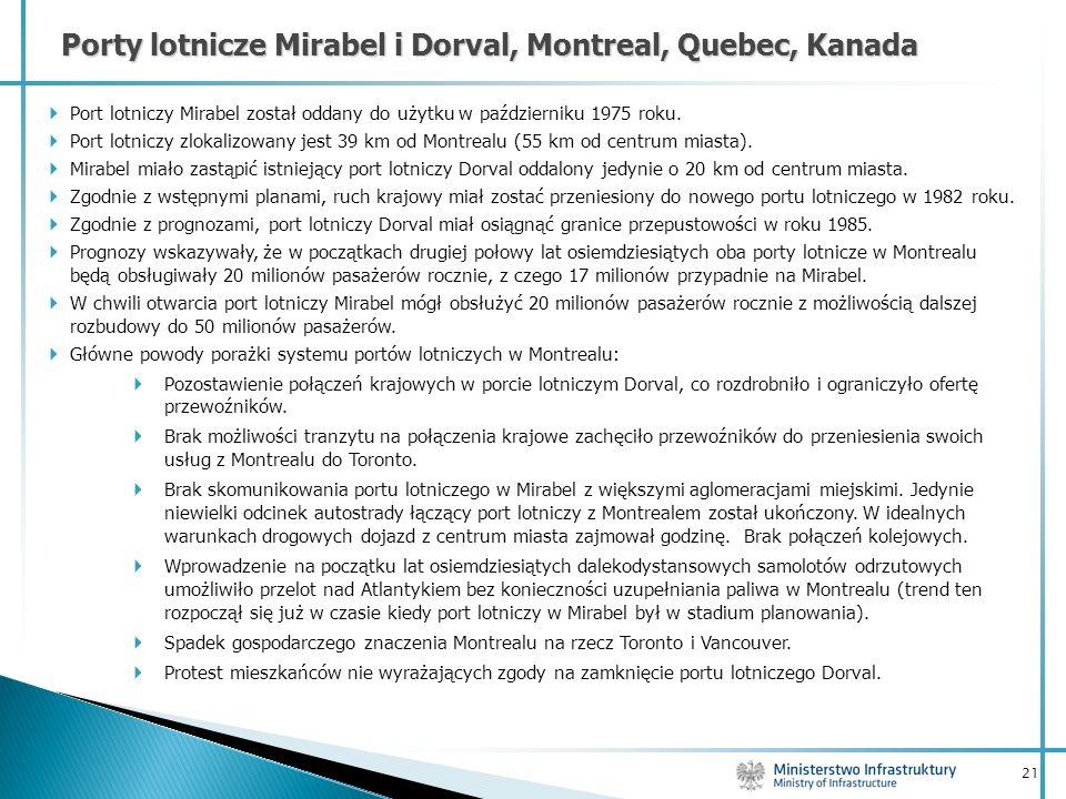 Porty lotnicze Mirabel i Dorval, Montreal, Quebec, Kanada