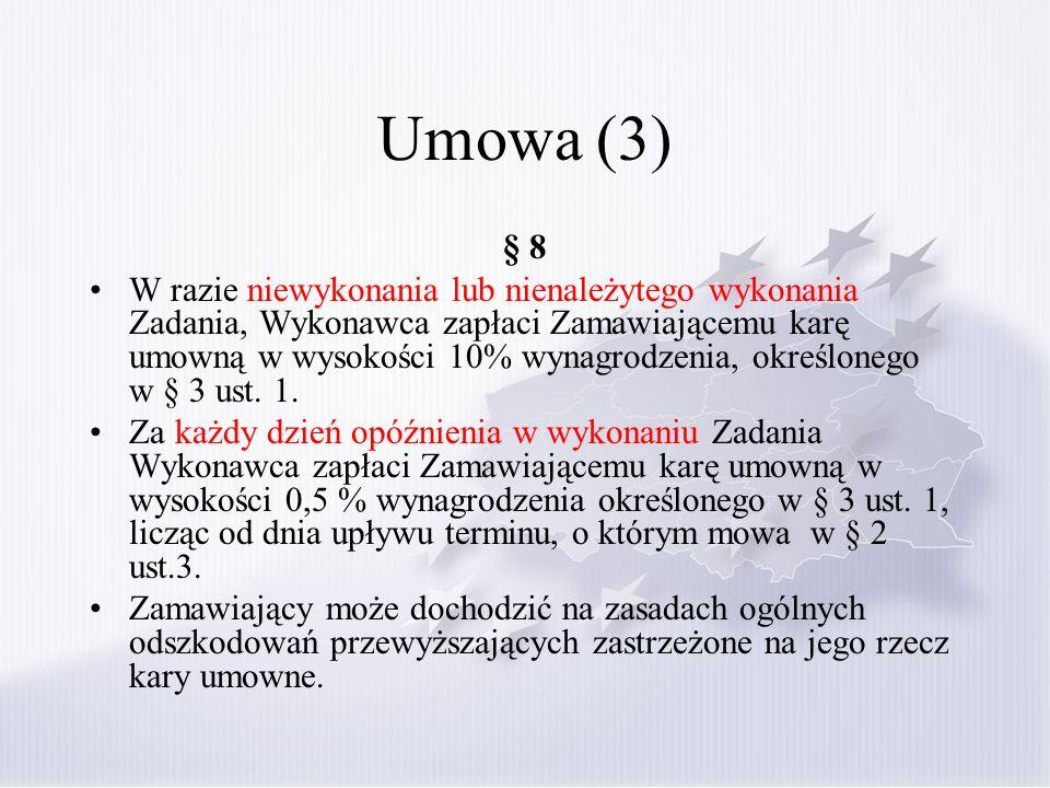 Umowa (3) § 8.