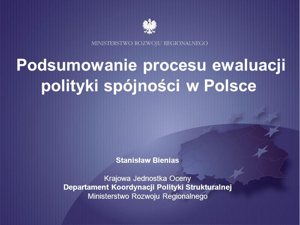 Podsumowanie procesu ewaluacji polityki spójności w Polsce