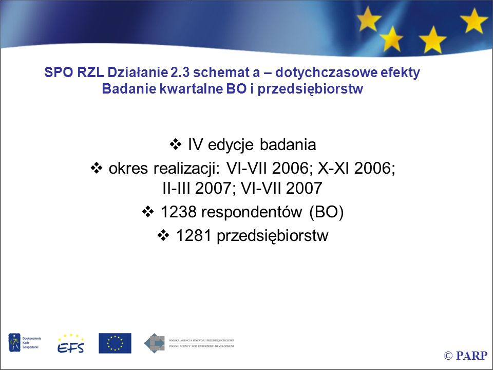 okres realizacji: VI-VII 2006; X-XI 2006; II-III 2007; VI-VII 2007