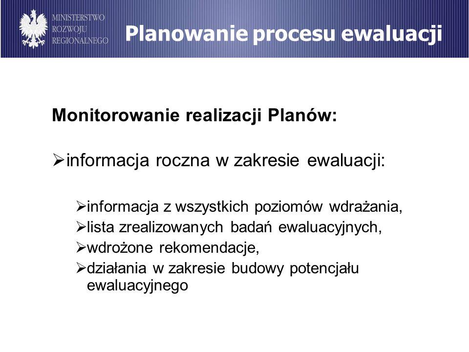 Planowanie procesu ewaluacji