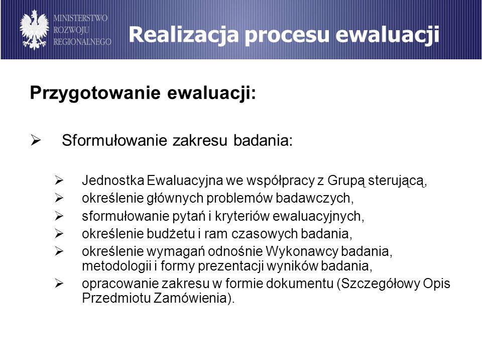 Realizacja procesu ewaluacji