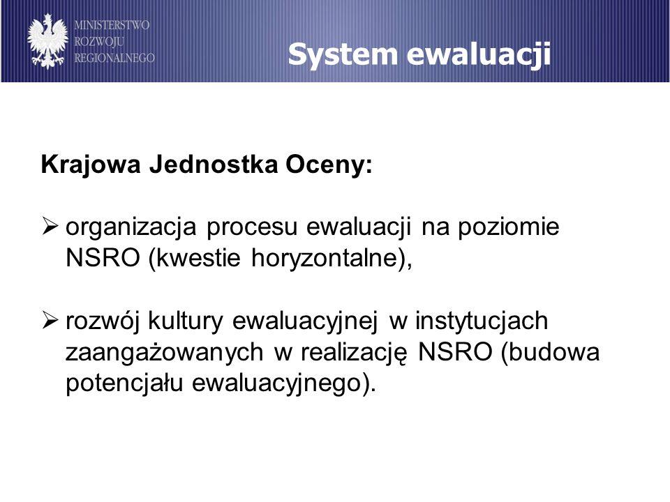 System ewaluacji Krajowa Jednostka Oceny: