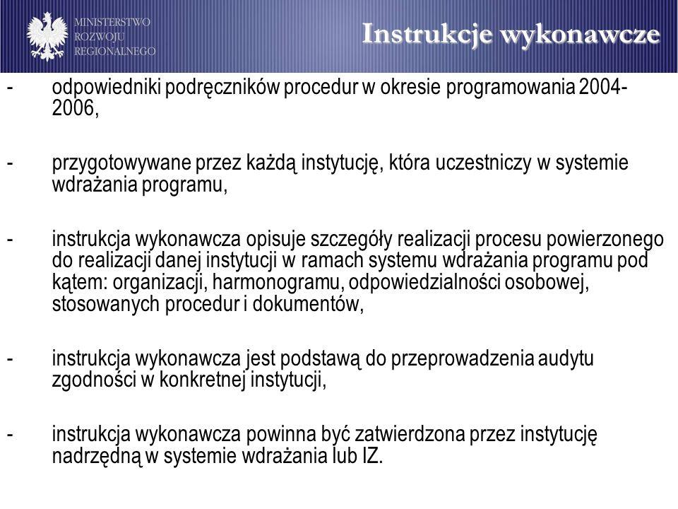 Instrukcje wykonawcze