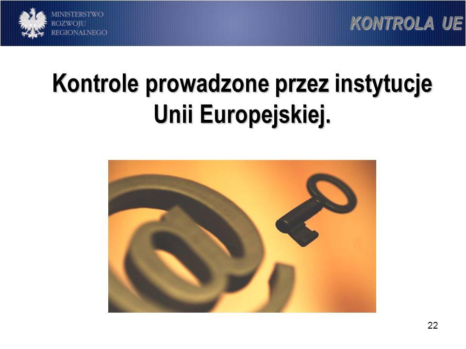 Kontrole prowadzone przez instytucje Unii Europejskiej.