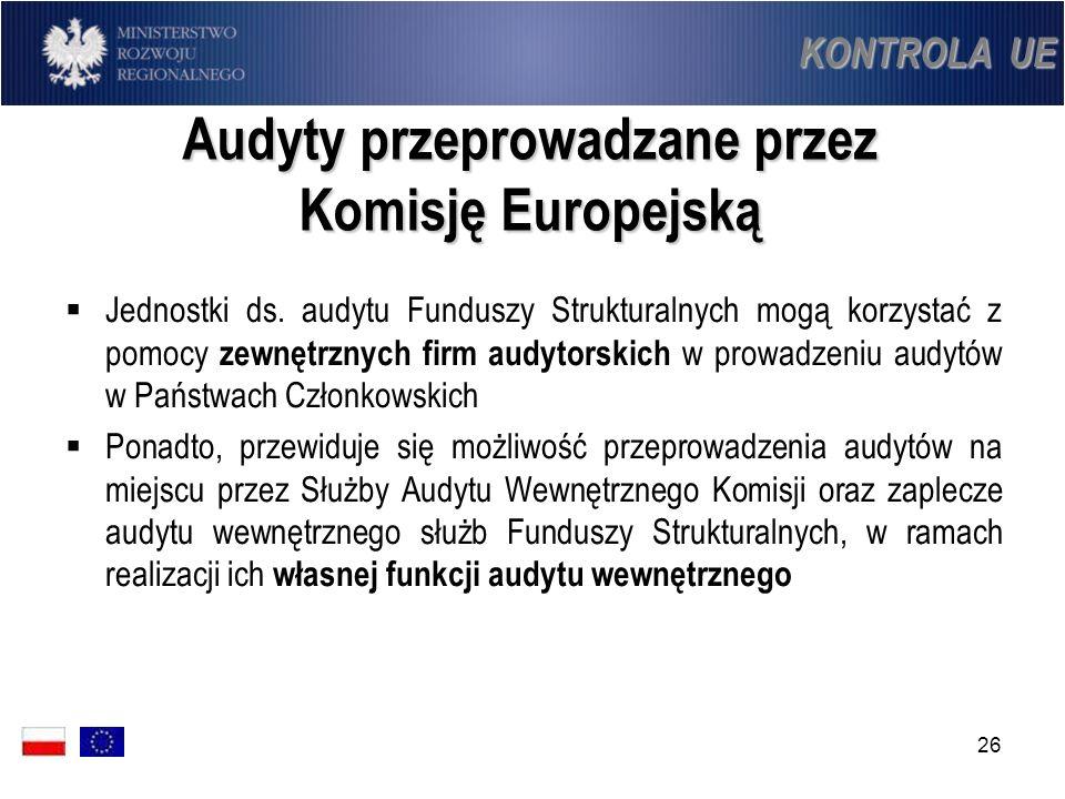 Audyty przeprowadzane przez Komisję Europejską