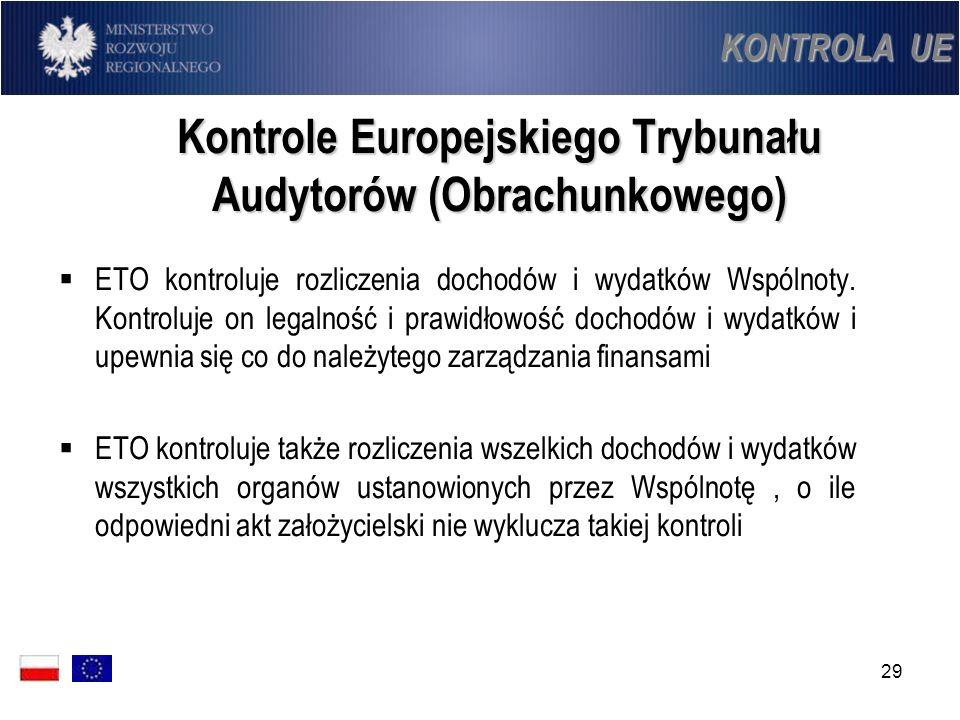 Kontrole Europejskiego Trybunału Audytorów (Obrachunkowego)