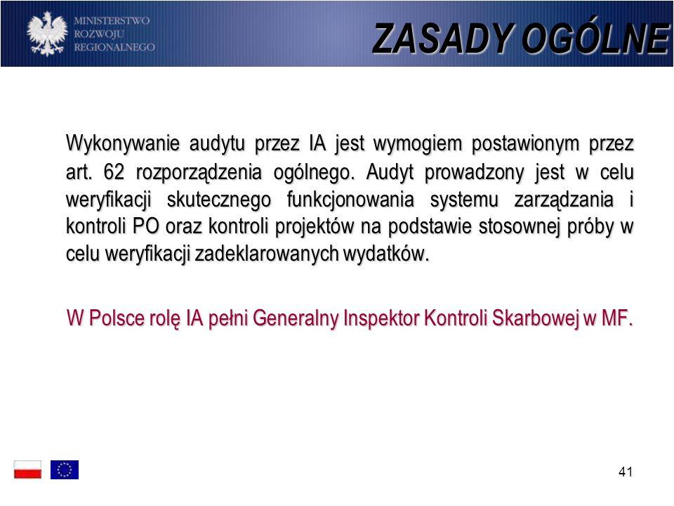 W Polsce rolę IA pełni Generalny Inspektor Kontroli Skarbowej w MF.
