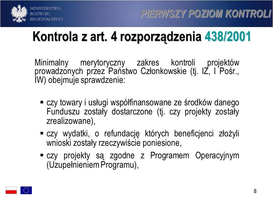 Kontrola z art. 4 rozporządzenia 438/2001