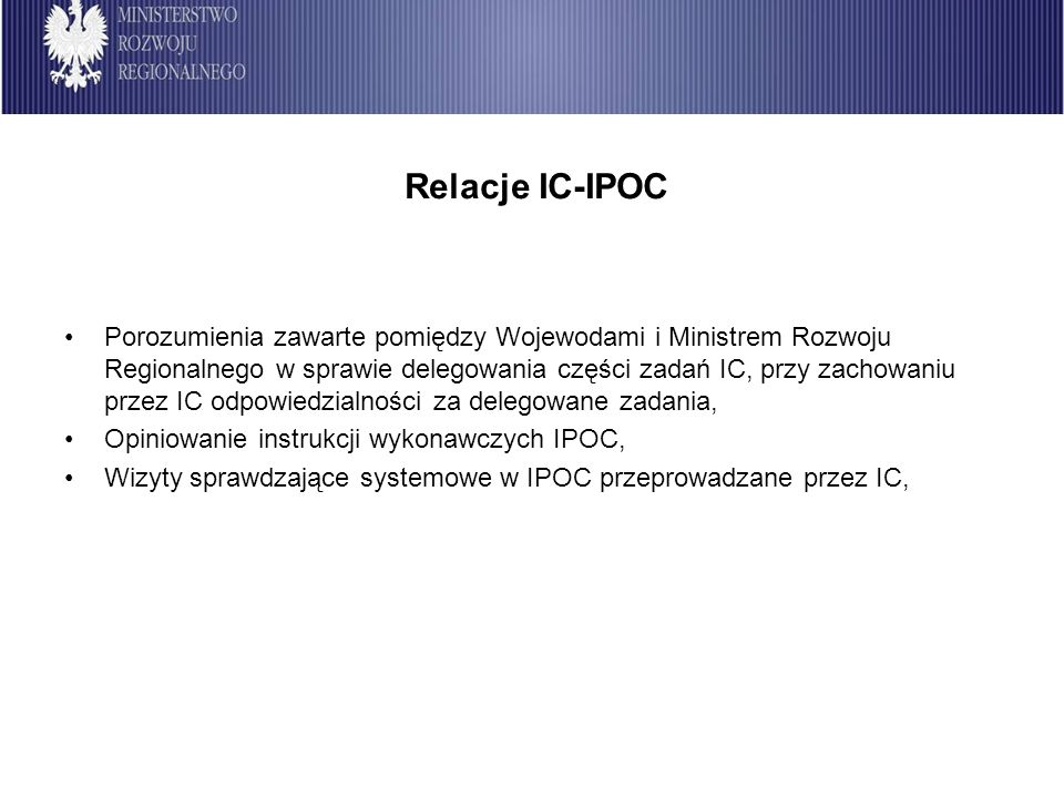 Relacje IC-IPOC