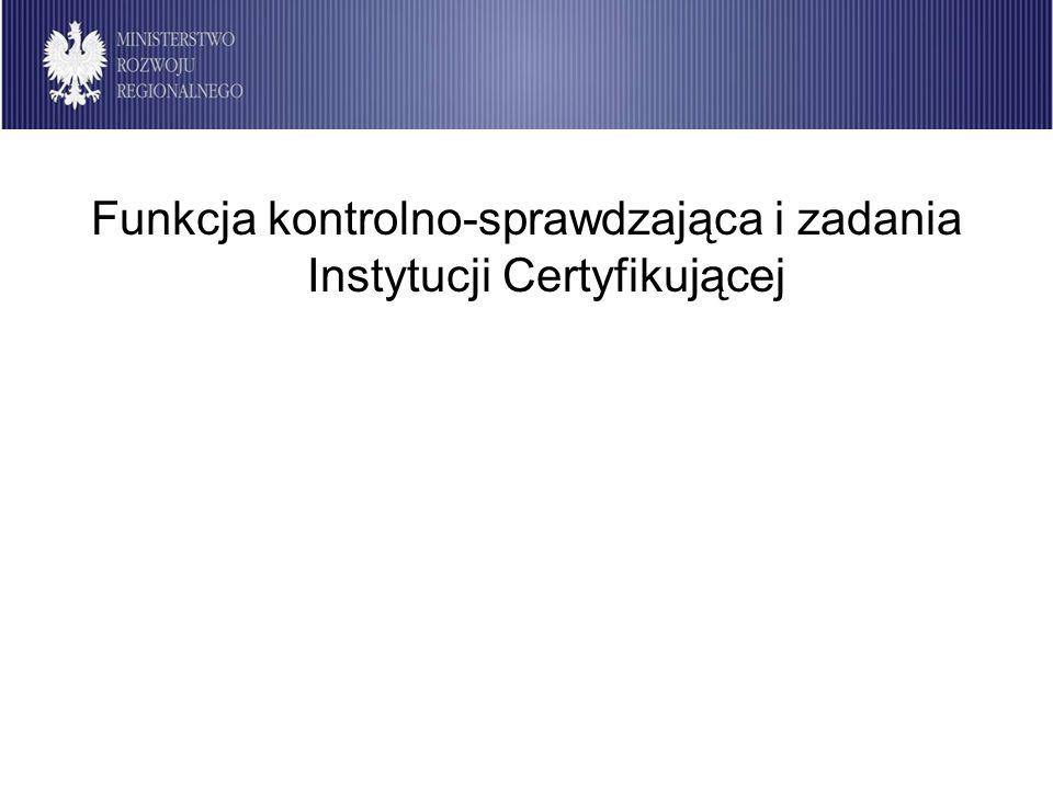 Instytucja Certyfikująca 2007-2013