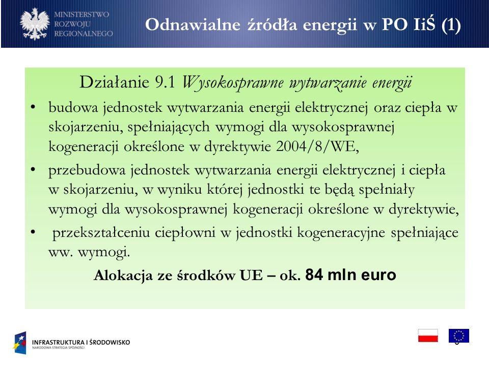 Odnawialne źródła energii w PO IiŚ (1)