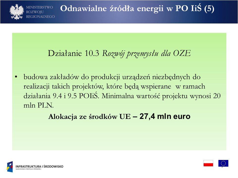 Odnawialne źródła energii w PO IiŚ (5)