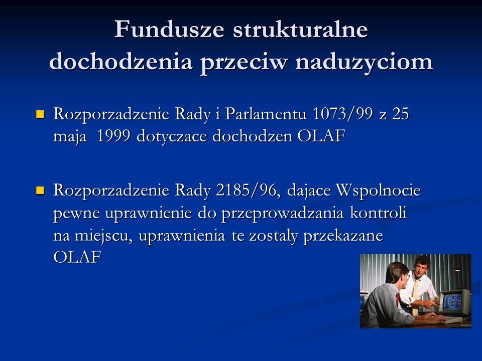 Fundusze strukturalne dochodzenia przeciw naduzyciom