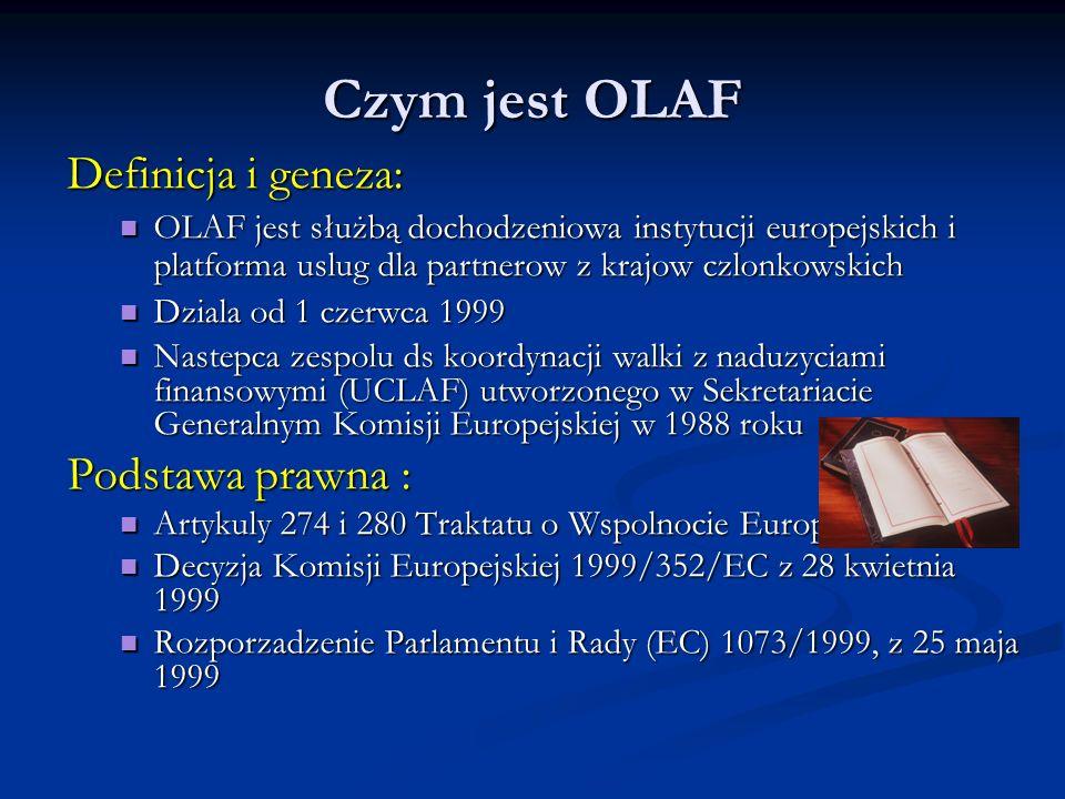 Czym jest OLAF Definicja i geneza: Podstawa prawna :