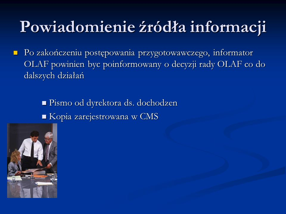 Powiadomienie źródła informacji