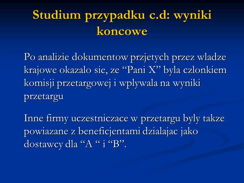 Studium przypadku c.d: wyniki koncowe