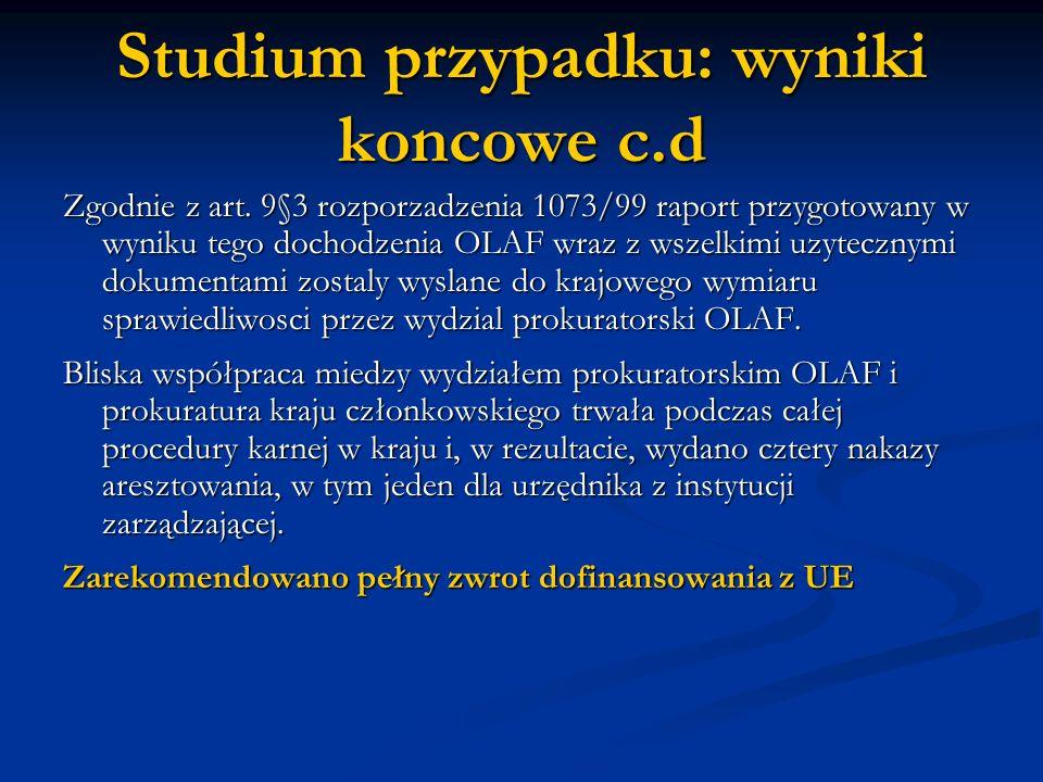 Studium przypadku: wyniki koncowe c.d