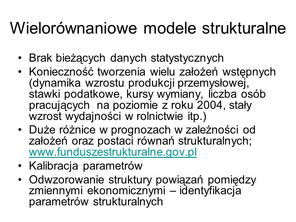 Wielorównaniowe modele strukturalne