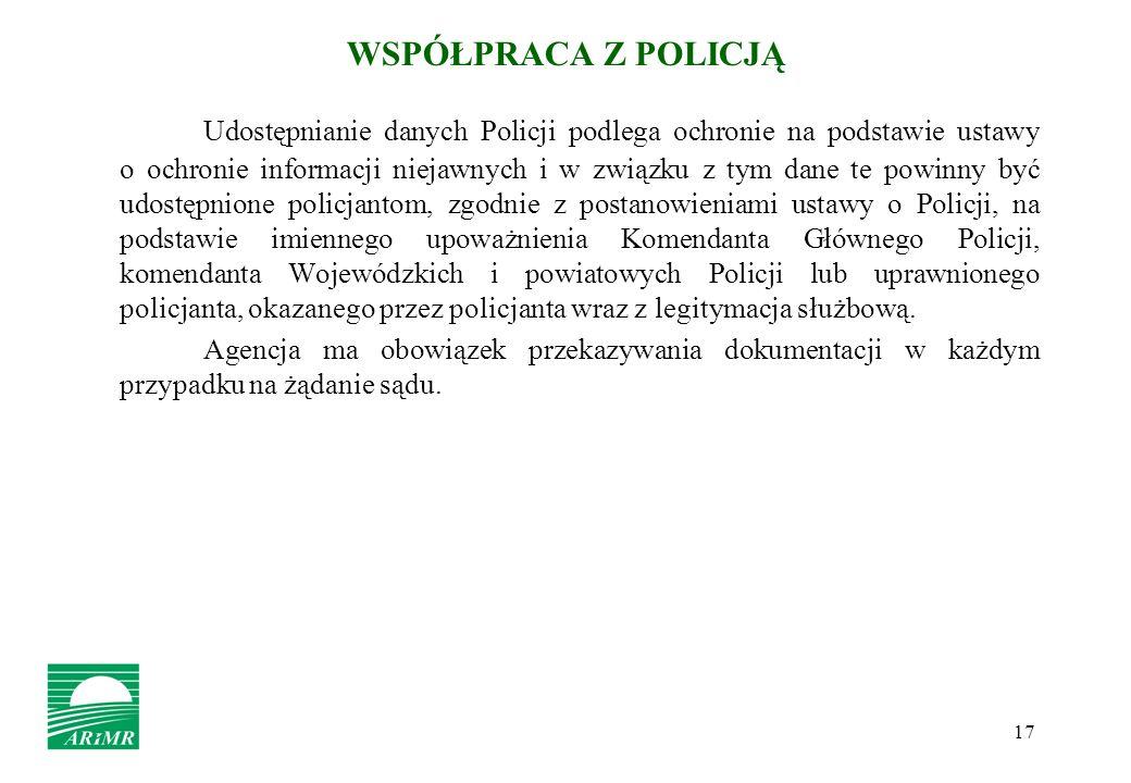 WSPÓŁPRACA Z POLICJĄ