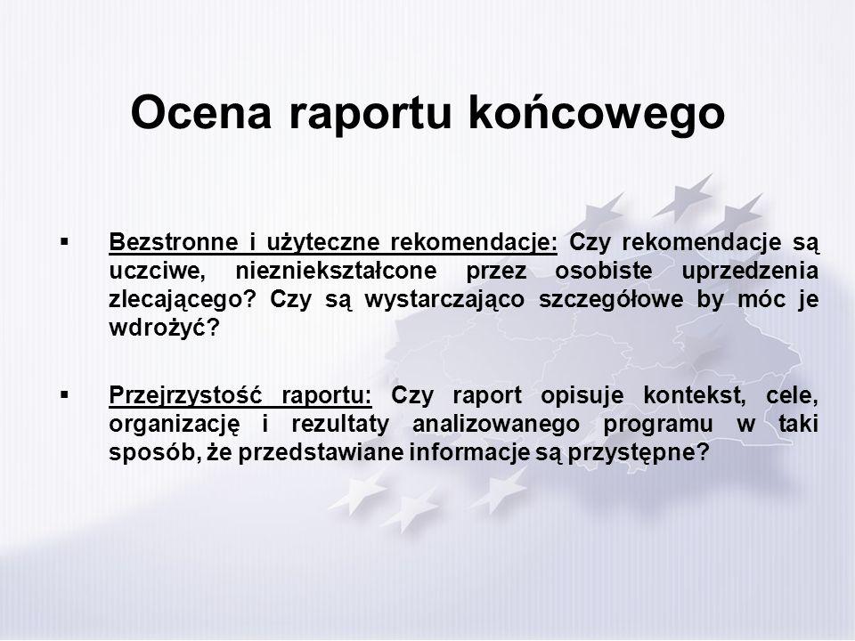 Ocena raportu końcowego