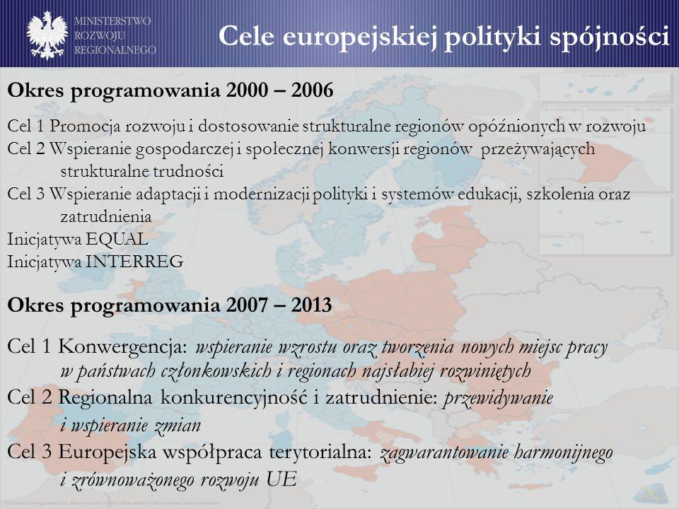 Cele europejskiej polityki spójności