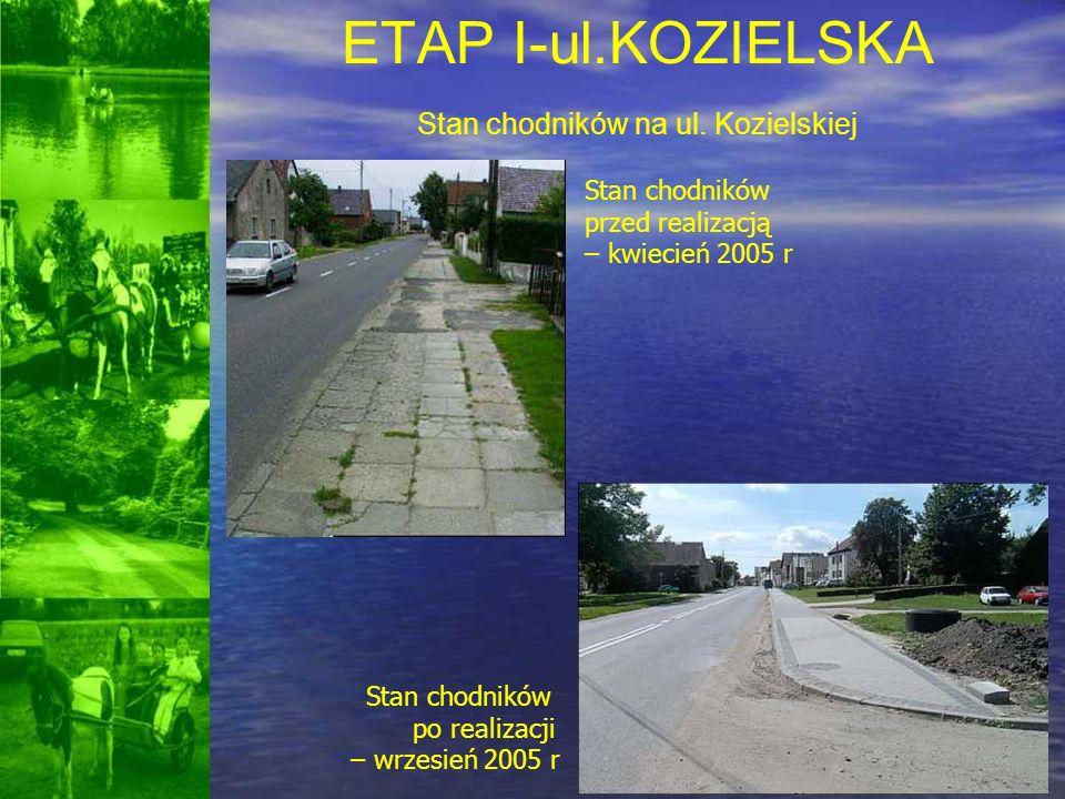 ETAP I-ul.KOZIELSKA Stan chodników na ul. Kozielskiej