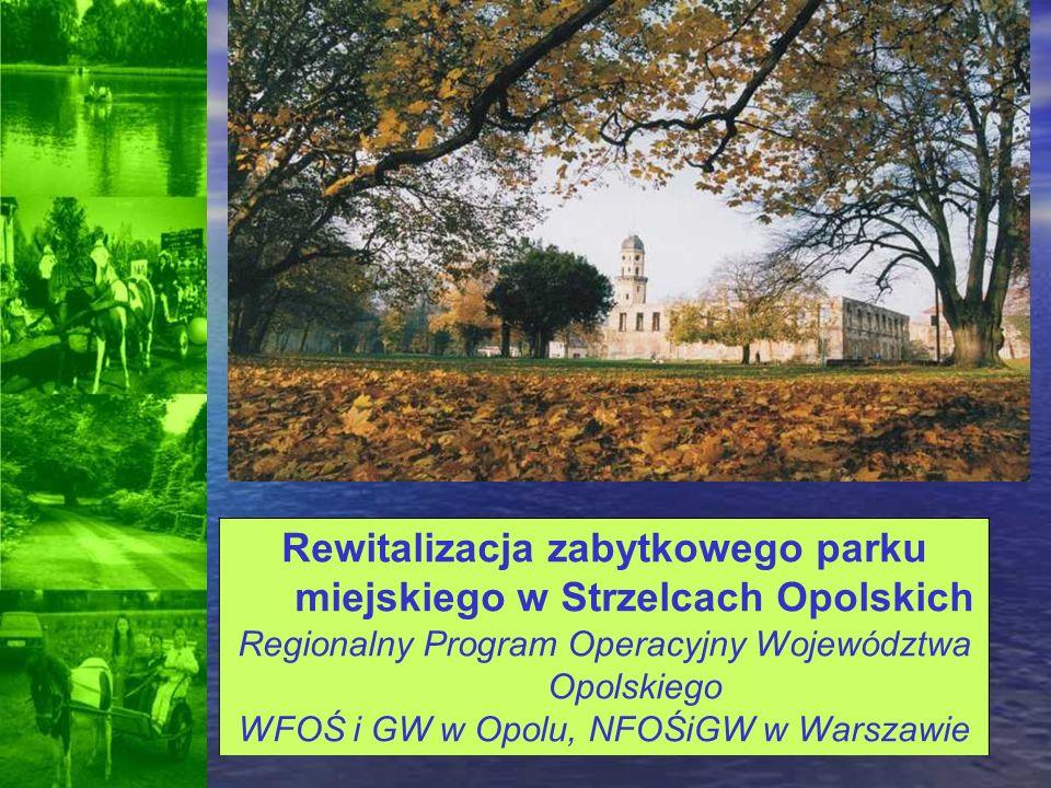 Rewitalizacja zabytkowego parku miejskiego w Strzelcach Opolskich