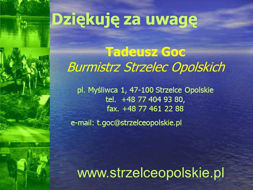 Dziękuję za uwagę www.strzelceopolskie.pl Tadeusz Goc
