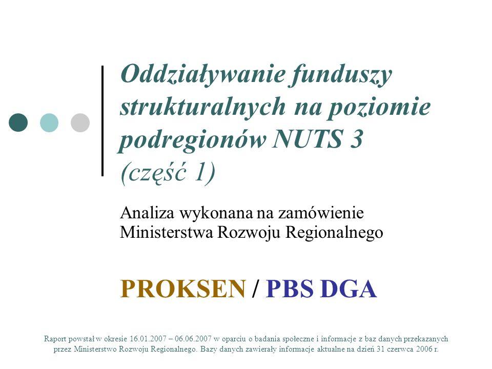 Oddziaływanie funduszy strukturalnych na poziomie podregionów NUTS 3 (część 1)