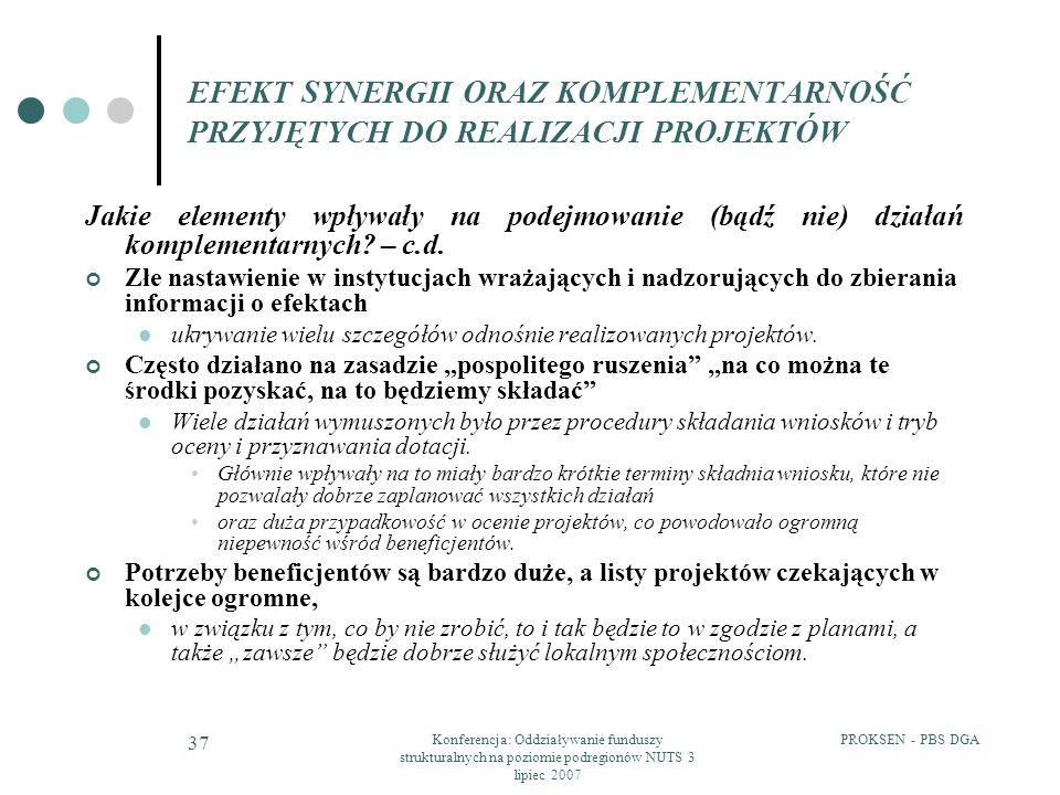 Konferencja: Oddziaływanie funduszy strukturalnych na poziomie podregionów NUTS 3 lipiec 2007