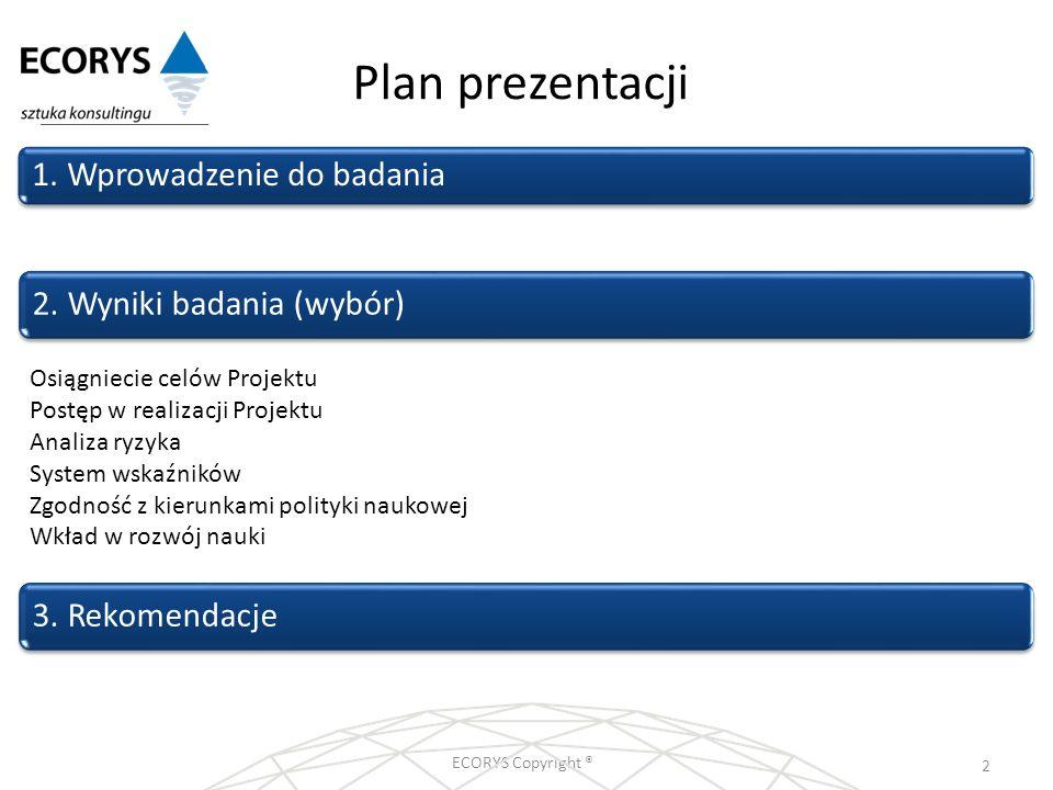 Plan prezentacji 1. Wprowadzenie do badania 2. Wyniki badania (wybór)