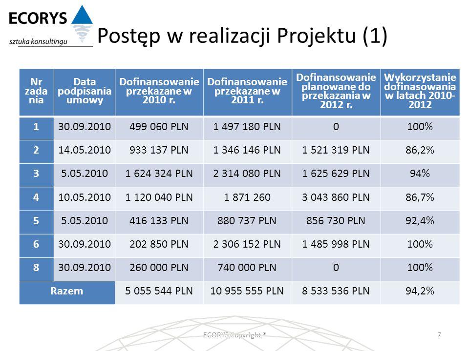 Postęp w realizacji Projektu (1)