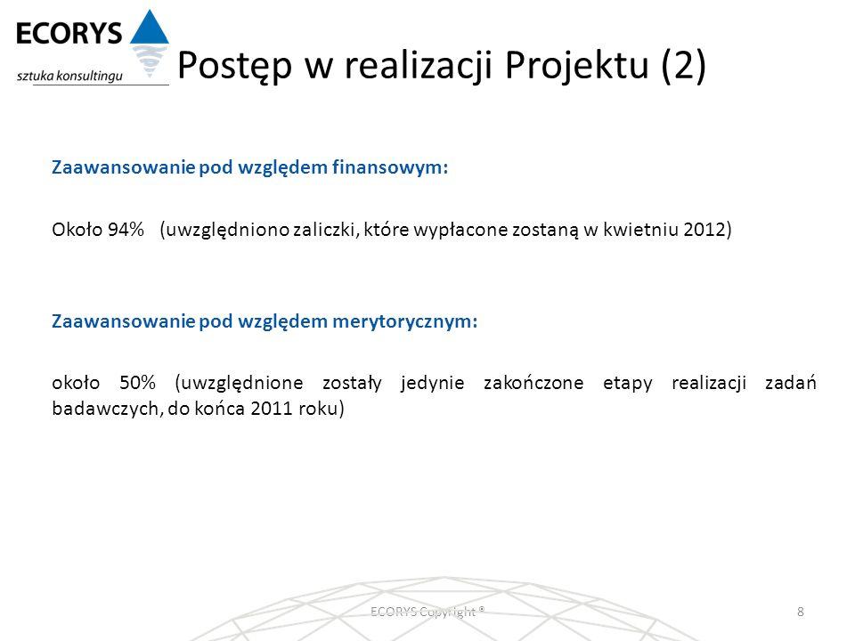 Postęp w realizacji Projektu (2)