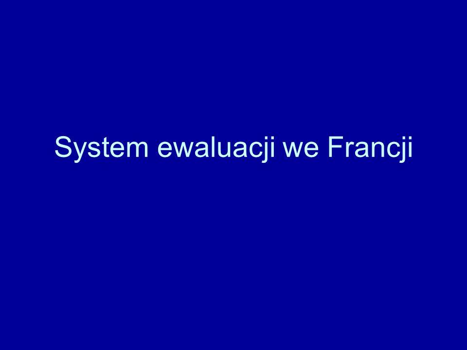 System ewaluacji we Francji