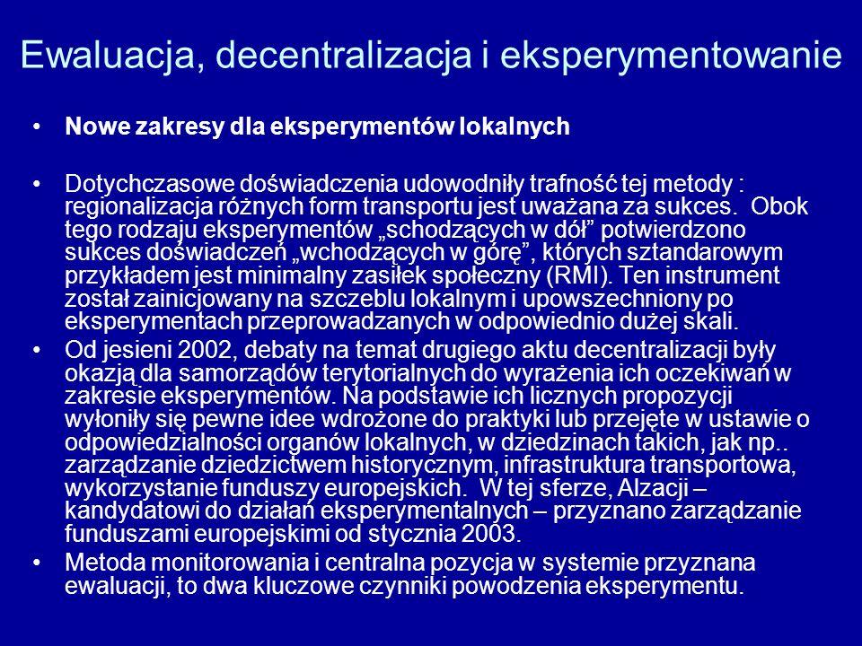 Ewaluacja, decentralizacja i eksperymentowanie