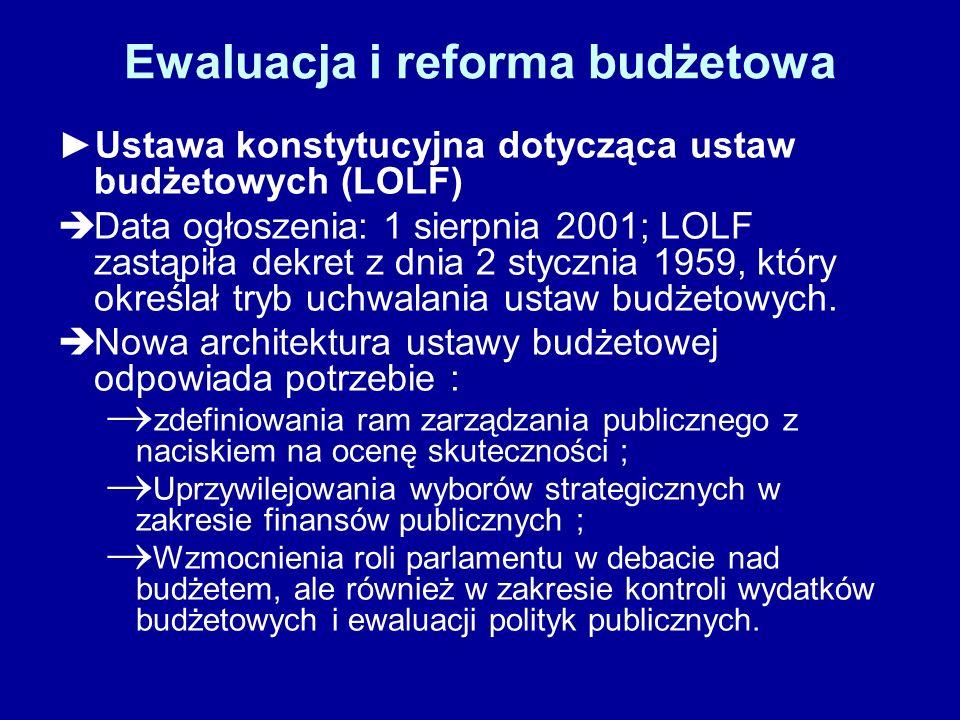 Ewaluacja i reforma budżetowa