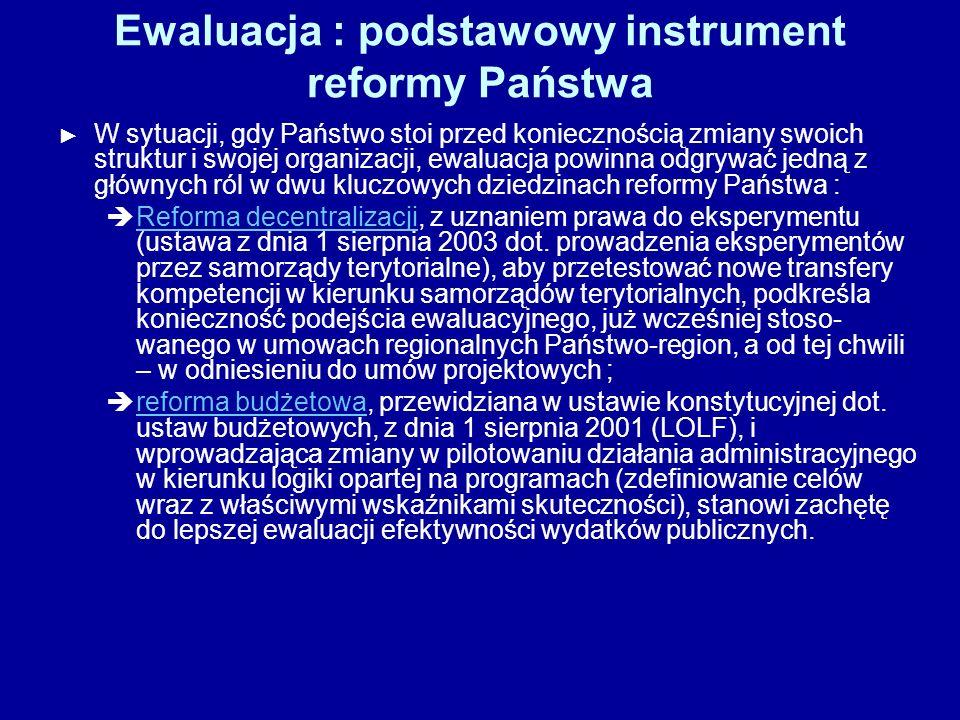 Ewaluacja : podstawowy instrument reformy Państwa