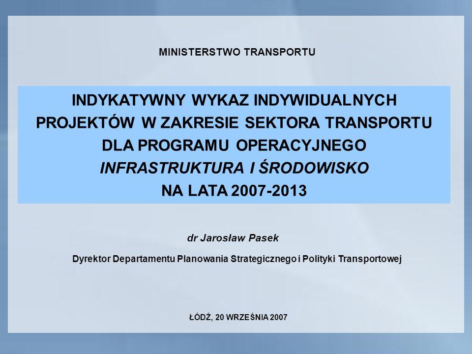MINISTERSTWO TRANSPORTU