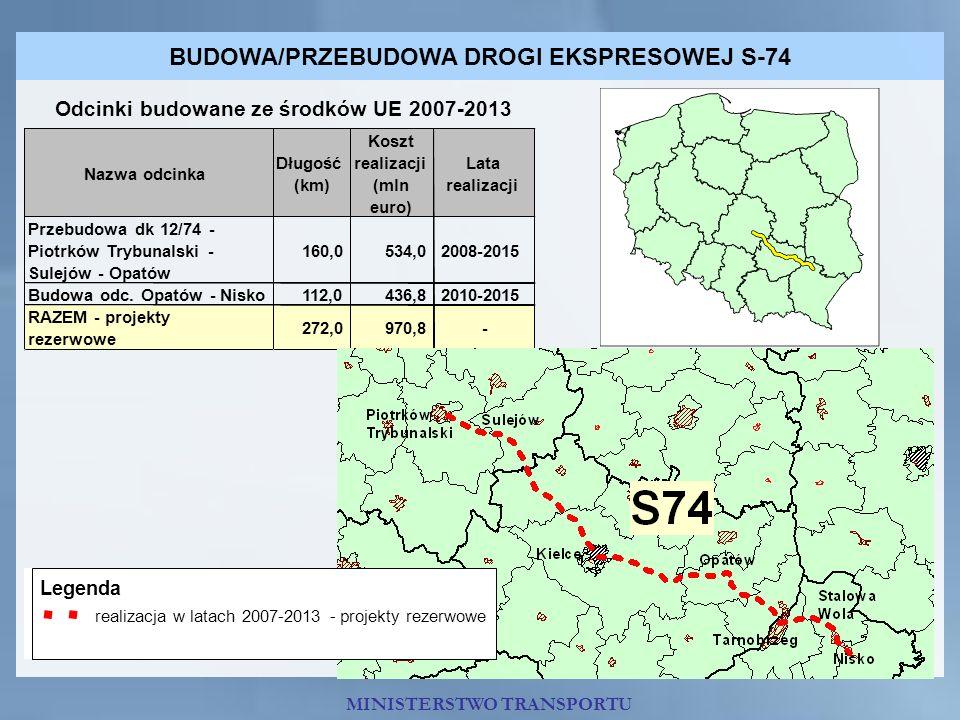 BUDOWA/PRZEBUDOWA DROGI EKSPRESOWEJ S-74