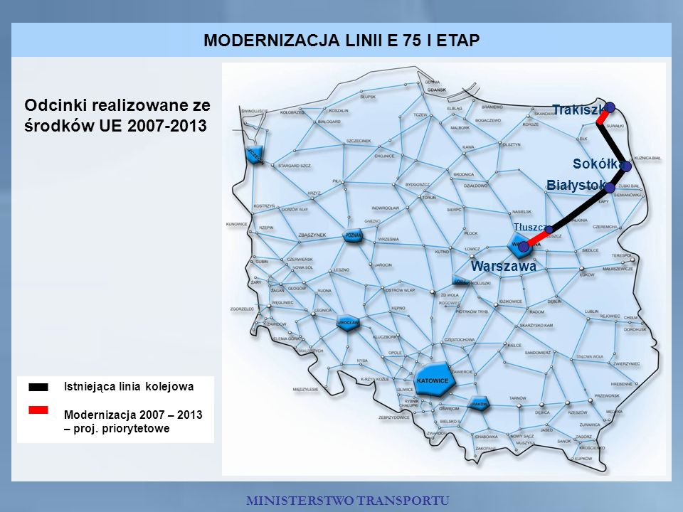 MODERNIZACJA LINII E 75 I ETAP
