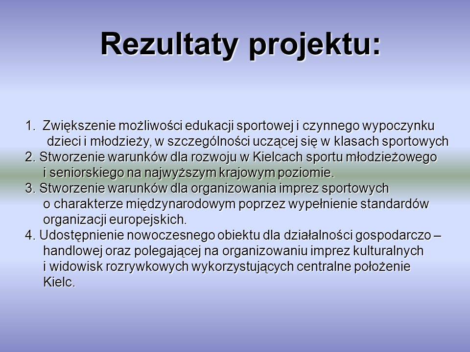 Rezultaty projektu: Zwiększenie możliwości edukacji sportowej i czynnego wypoczynku.