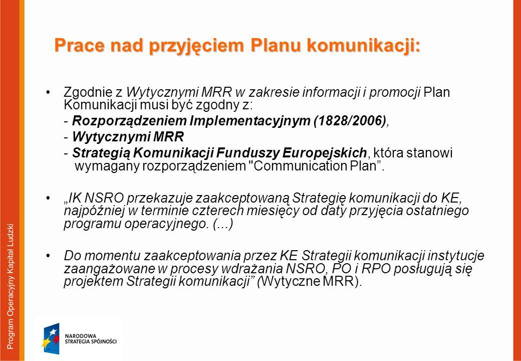 Prace nad przyjęciem Planu komunikacji: