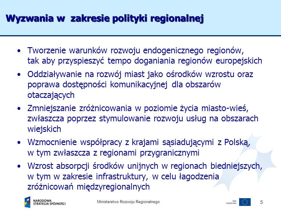 Wyzwania w zakresie polityki regionalnej